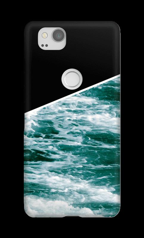 Zwart water hoesje Pixel 2