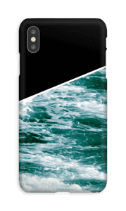 Zwart water hoesje IPhone XS Max
