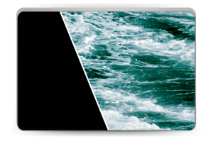 Musta meri tarrakuori Laptop 15.6