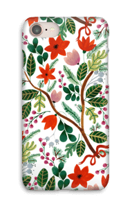 Julblomster cover IPhone 8