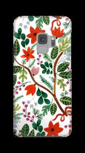 Juleblomster deksel Galaxy S9