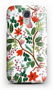 Christmas floral case Galaxy S4