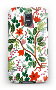 Christmas floral case Galaxy S5