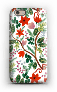 Christmas floral case IPhone 6 tough