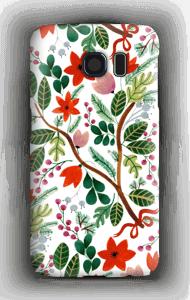 Juleblomster deksel Galaxy S6