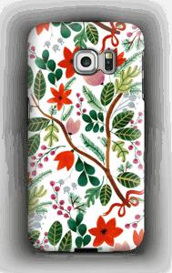 Juleblomster deksel Galaxy S6 Edge