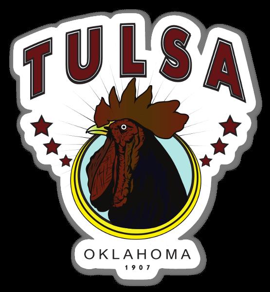 tulsacock  sticker