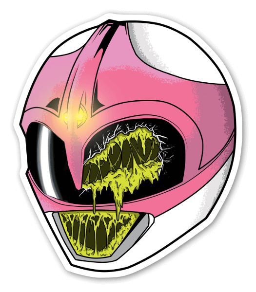 Pink ranger sticker