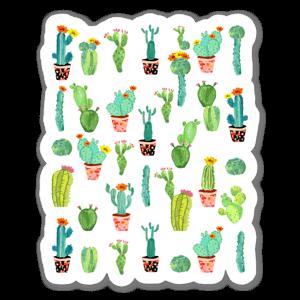 cactus land  sticker
