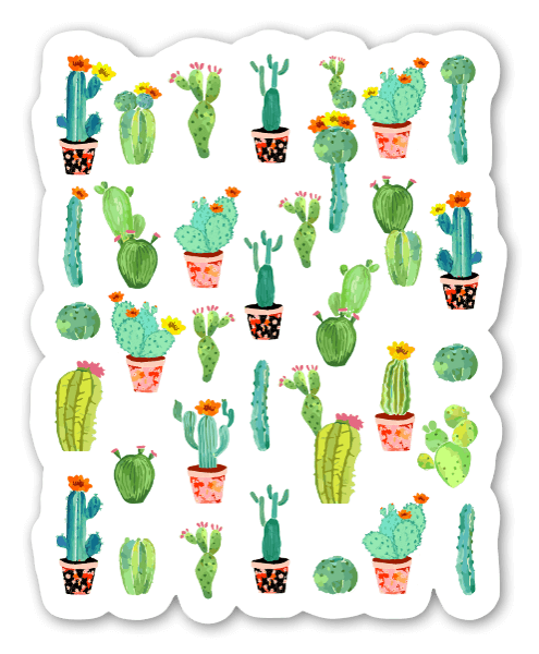 Cactus land sticker