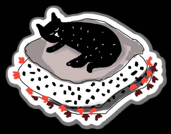Kattenliefde sticker