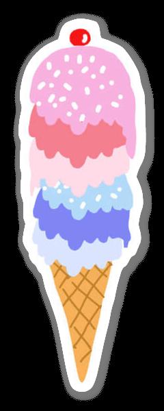 Gelato sticker