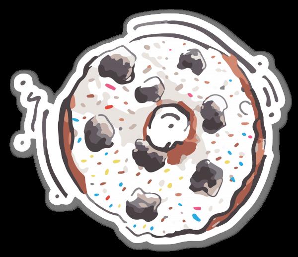 Meer donutliefde sticker