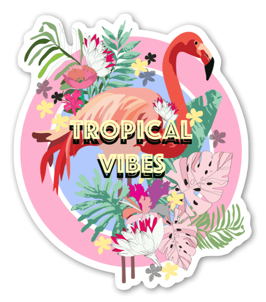 Tropical vibes sticker