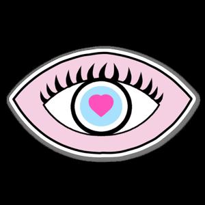 Eye print sticker