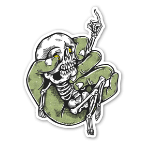 skeleton boy sticker
