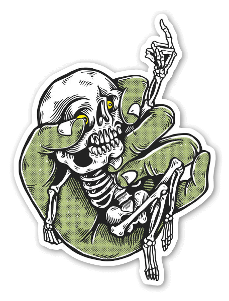 Skeleton boy  sticker