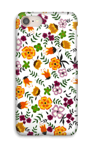 Farverige blomster cover IPhone 8