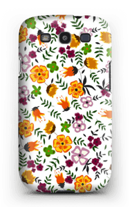 Farverige blomster cover Galaxy S3
