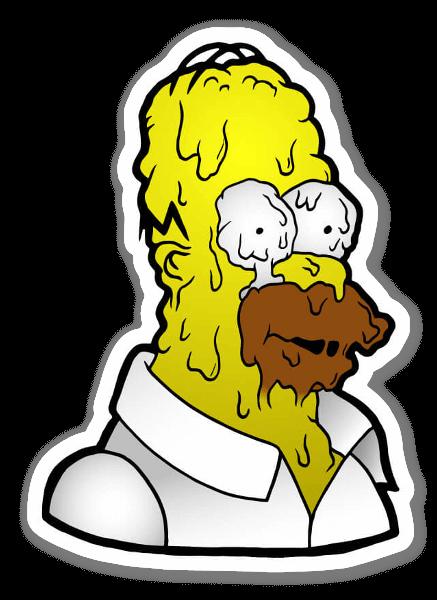 Melty Homer Simpson  sticker