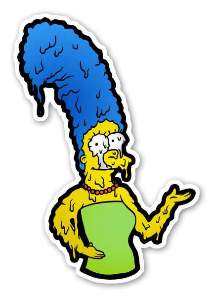 Melty Marge Simpson  sticker