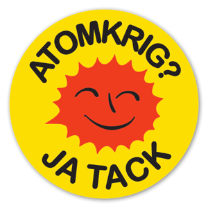 Atomkrig ja tack sticker