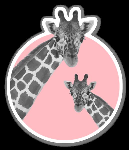 Pinkki kirahvi tarra
