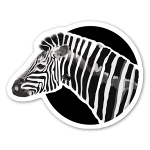Amore Zebra sticker