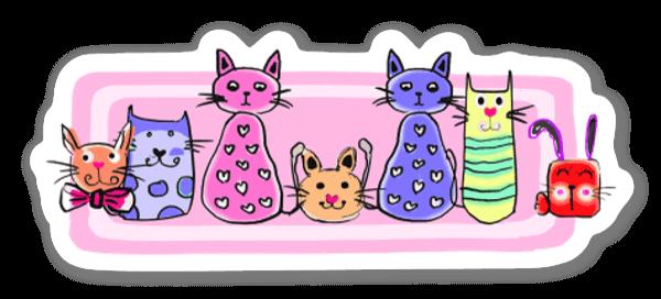Kitty cats  sticker