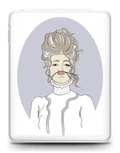 Lady Violette Skin IPad 1