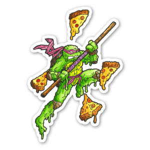 Tartaruga ninja sciolta sticker