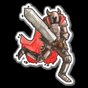 Cavaliere con spada grande sticker