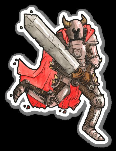 Big Sword Knight  sticker