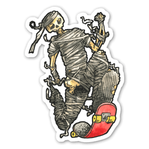 Mummy skater  sticker