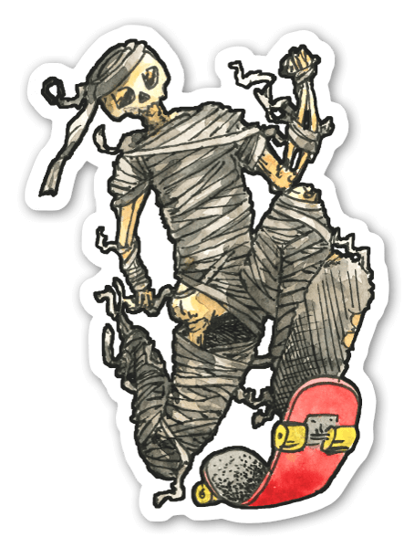 Momia Skater pegatina