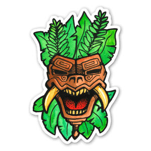 Inca mask sticker