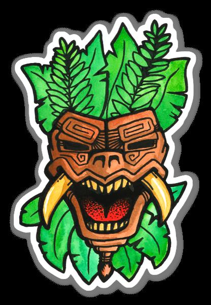 Maschera Inca sticker