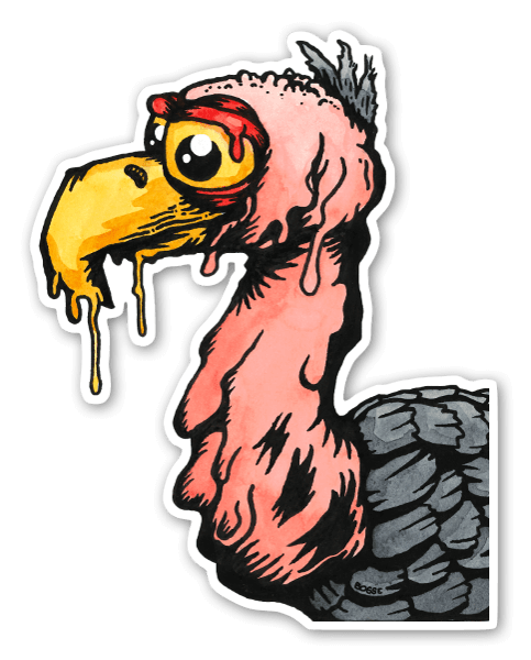 Dodo melty sticker
