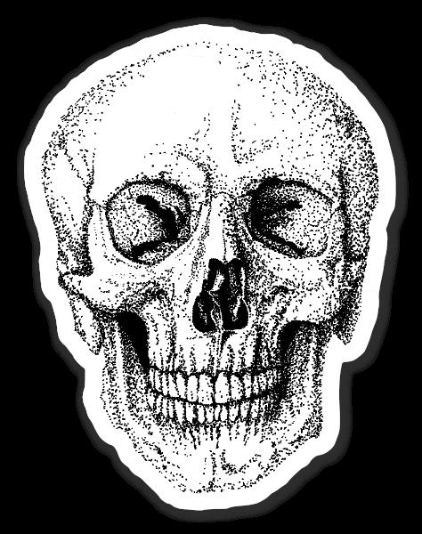 Skull dotwork  sticker