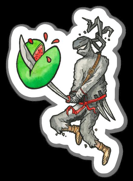 Fruit Ninja pegatina