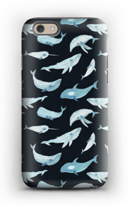 Whales in black  case IPhone 6s tough