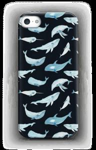 Blauwe walvissen hoesje IPhone SE