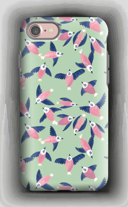 Fåglar i rosa skal IPhone 7 tough