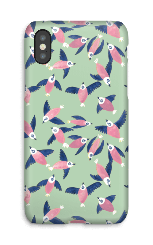Rosa fugler deksel IPhone X