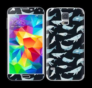 Whales in dark  Skin Galaxy S5