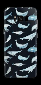 Hvaler i sort Skin Galaxy S8