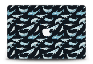 "Whales in dark  Skin MacBook Pro Retina 15"" 2015"