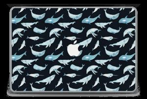 """Baleines Noir Skin MacBook Pro 15"""" -2015"""
