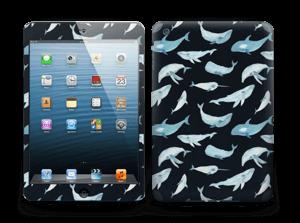 Baleines Noir Skin IPad mini 2