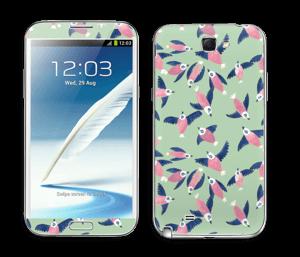 Lintuparvi tarrakuori Galaxy Note 2